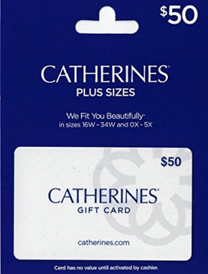 ihocon: $50 Catherines Gift Card 只賣$40