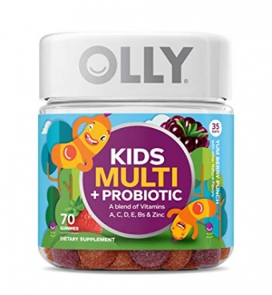 ihocon: OLLY Kids Multivitamin and Probiotic Gummy Supplement, with Zinc & PROBIOTICS; Yum Berry Punch; 70 count (35 day supply) 兒童綜合維他命和益生菌軟糖