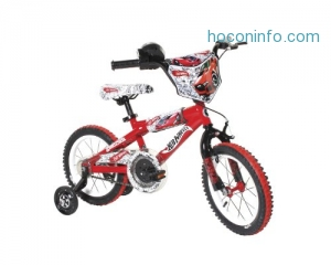 ihocon: Dynacraft Hot Wheels Boys BMX Street/Dirt Bike with Hand Brake 14兒童自行車-輔助輪可拆