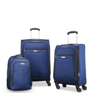 ihocon: Samsonite Tenacity 3 Piece Luggage Set - Black, Blue, 25, 21, Backpack