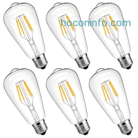 ihocon: LuminWiz Dimmable Edison LED Bulb,E26,6-Pack