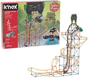 ihocon: K'NEX Thrill Rides – Panther Attack Roller Coaster Building Set with Ride It! App – 690Piece