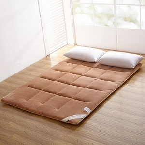 ihocon: ColorfulMart Champagne Brown Flannel Japanese Floor Futon Mattress日式榻榻米床墊