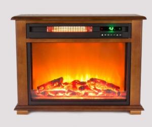 ihocon: Lifesmart 5,100-BTU Stone Accent Fireplace Heater壁爐造型暖氣