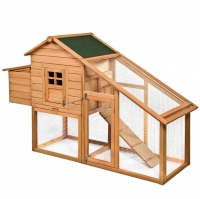 ihocon: Goplus 75 Deluxe Wooden Chicken Coop Backyard Nest Box Hen House Rabbit Wood Hutch