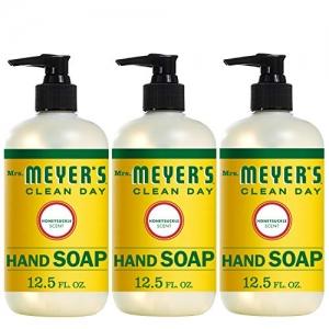ihocon: Mrs. Meyer's Clean Day Liquid Hand Soap, Honeysuckle Scent, 12.5 fl oz (3 ct) . 洗手液 3瓶