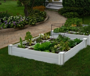 ihocon: Vita Gardens VT17104 Vita Bed with GRO 48in x 7.5in Garden with Grid, 7.38 H 有格花圃