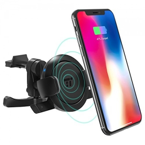 ihocon: TaoTronics Wireless Qi 無線充電汽車手機固定器 Vent Phone Holder Car Charger