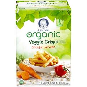 ihocon: Gerber Graduates Organic Veggie Crisps, Orange, 5 Count (Pack of 2) 幼兒有機蔬菜脆片 2盒