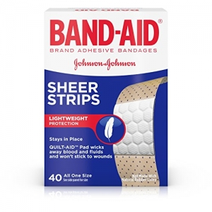 ihocon: Band-Aid Brand Sheer Strips Adhesive Bandages for First Aid and Wound Care, All One Size, 40 ct 創可貼/OK繃