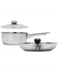ihocon: Sedona Stainless Steel 2-qt. saucepan and lid and 10 fry pan