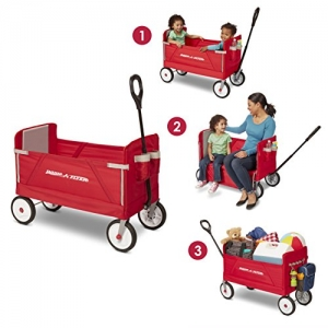 ihocon: Radio Flyer 3-in-1 EZ Folding Wagon for kids and cargo