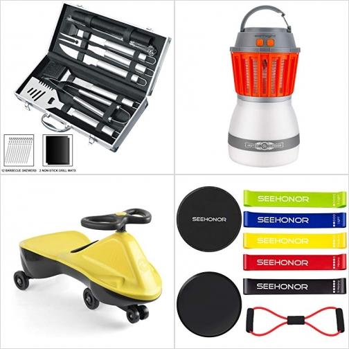 [Amazon折扣碼] BBQ烤肉工具, 2合1充電式補蚊/蟲燈, 扭扭車, 運動健身彈性帶 額外折扣!