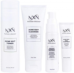 ihocon: NxN Acne Edit Treatment 4-Step Clear Skin System with Probiotics, Natural Multi-Fruit Extracts and Salicylic Acid for Acne Blemishes and Breakouts 4步驟青春痘治療組