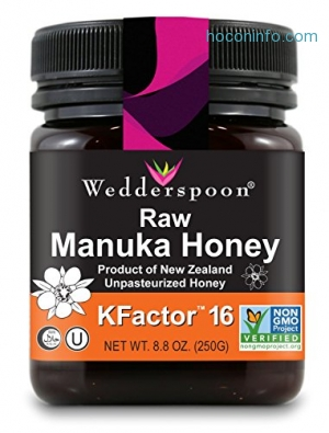 ihocon: Wedderspoon 100% Raw Premium Manuka Honey KFactor 16+, 8.8 Ounce