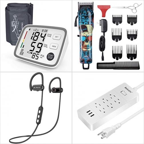[Amazon折扣碼] 上臂血壓計, 無線理髮器及剪刀, 藍芽無線耳機, Surge Protector延長線 額外折扣!