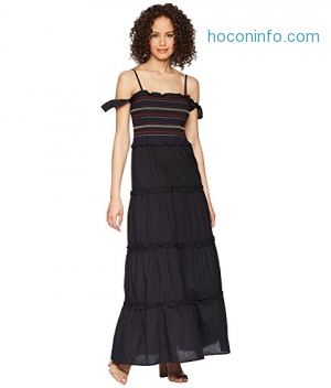 ihocon: ROMEO & JULIET COUTURE Embroidered Smocking Top Maxi Dress