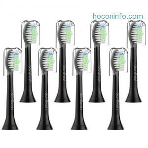 ihocon: Sonifresh Toothbrush Replacement Heads, DiamondClean Sonic Replacement Heads For Philips Sonicare Electric Toothbrush, 8 Pack