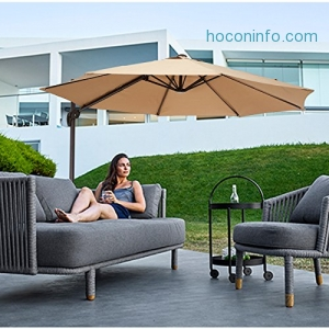ihocon: CO-Z 10' Hanging Roma Offset Umbrella室外遮陽大傘