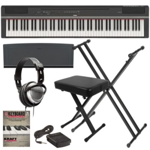 ihocon: Yamaha P-125 Digital Piano - Black KEY ESSENTIALS BUNDLE 電鋼琴