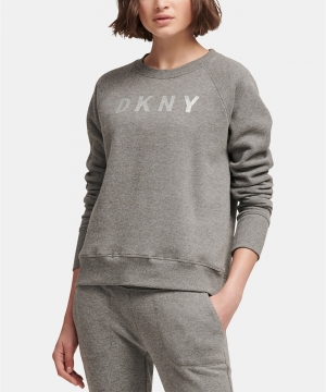 ihocon: DKNY Sport Sparkle Logo Fleece Sweatshirt - 多色可選