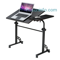 ihocon: LANGRIA Adjustable Height Mobile computer Table 移動式可調高度電腦桌