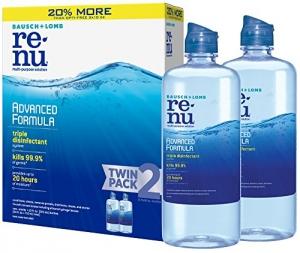 ihocon: Bausch + Lomb ReNu Lens Solution, Advanced Triple Disinfect Formula, Multi-Purpose, 12 Ounce Bottle Twinpack隱型眼鏡藥水