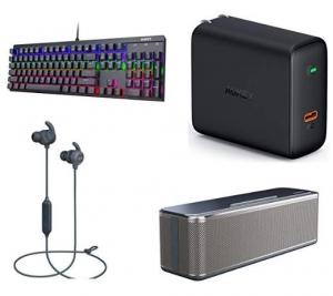 [Amazon今日特賣] AUKEY鍵盤, USB充電器, 耳機及Speaker 特價優惠