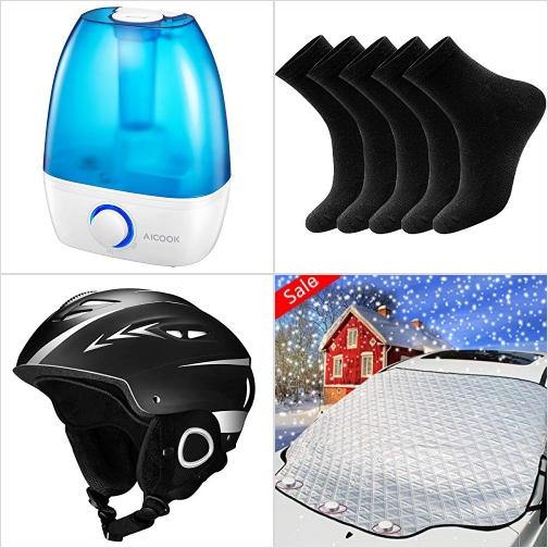 [Amazon折扣碼] 超音波室內加濕器, 男襪/女襪, 滑雪安全頭盔, 磁性擋風玻璃防雪罩 額外折扣!