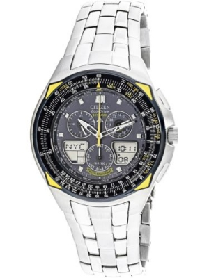 ihocon: Citizen 星辰光動能男錶 Men's Blue Angels Skyhawk JR3080-51M
