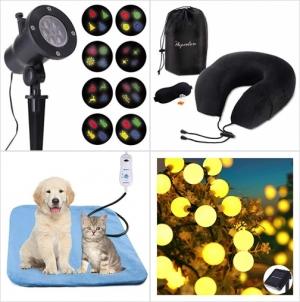 [Amazon折扣碼] 聖誕投影燈, 記憶棉旅行枕, 寵物電熱墊, 太陽能LED裝飾燈 額外折扣!