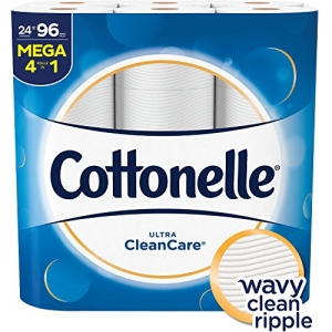 ihocon: Cottonelle Ultra CleanCare Toilet Paper, Strong Bath Tissue, 24 Mega Rolls 捲筒衛生紙
