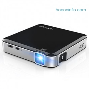 ihocon: Apeman M4 Mini DLP Portable Projector with Built-in Rechargeable Battery 迷你投影機