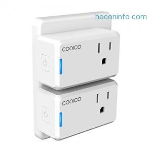 ihocon: [不在家也能遙控電器]Conico Mini Smart Ourtlet智能插座(2 Pack)