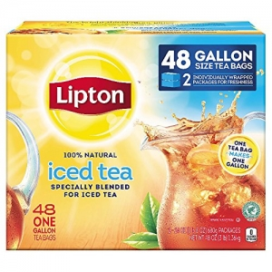 ihocon: Lipton立頓 Gallon-Sized Black Iced Tea Bags, Unsweetened 48 ct Gallon Size 無糖冰紅茶
