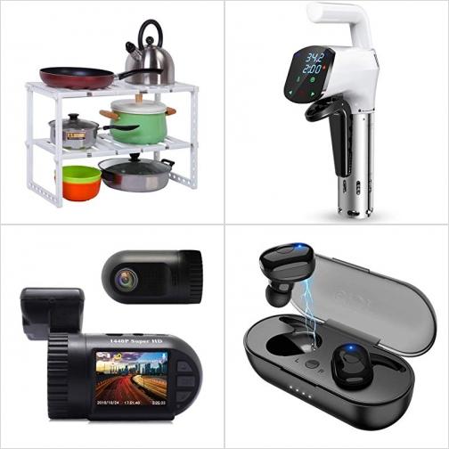 [Amazon折扣碼] 不銹鋼水槽下方置物架, 低温慢煮機, 行車記錄器, 真無線耳機 額外折扣!