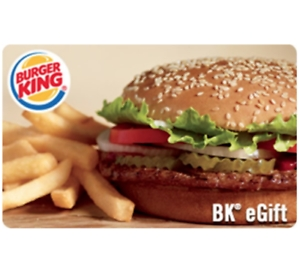 ihocon: $25 Burger King Gift Card只賣 $20  - Via Email delivery