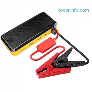 ihocon: AUKEY Jump Starter with 400A Peak Current & 12000mAh Portable Charger汽車啓動行動電源
