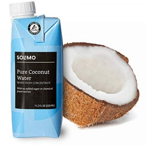ihocon: Amazon Brand - Solimo Coconut Water 11.2 Fl Oz (Pack of 24) 椰子水