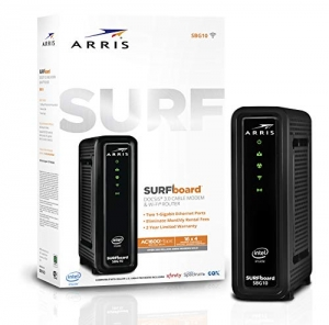 ihocon: ARRIS Surfboard (16x4) DOCSIS 3.0 Cable Modem Plus AC1600 Dual Band Wi-Fi Router, 686 Mbps Max Speed, Certified for Comcast Xfinity, Spectrum, Cox & More