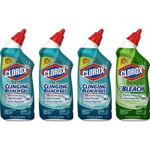 ihocon: Clorox Toilet Bowl Cleaner with Bleach Variety Pack - 24 Ounces, 4 Pack 馬桶清潔劑4瓶