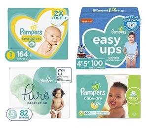 Amazon: Pampers幫寶適尿片及尿褲 買2可$15 off