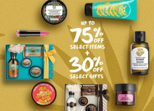 The Body Shop美體小鋪up to 75% off + gift set 30% off