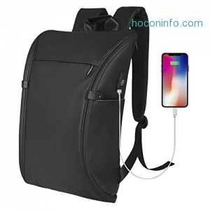 ihocon: beyle Waterproof 15.6 防水電腦背包 Laptop Backpack Anti Theft Business USB Charging Port