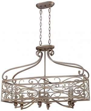ihocon: Craftmade 35826-AO 6 Light Linear Chandelier吊燈