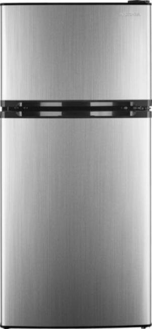 ihocon: Insignia- 4.3 Cu. Ft. Top-Freezer Refrigerator - Stainless steel 不銹鋼小冰箱