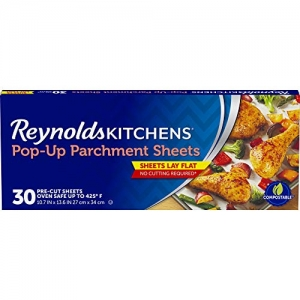 ihocon: Reynolds Kitchens Pop-Up Parchment Paper Sheets - 10.7x13.6, 30 Sheets 烘焙紙