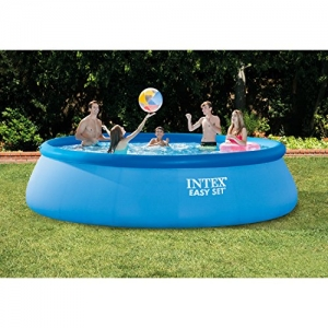 ihocon: Intex 15ft X 42in Easy Set Pool Set with Filter Pump, Ladder, Ground Cloth & Pool Cover 泳池 + 過濾泵 + 梯子+ 地面布 + 泳池蓋