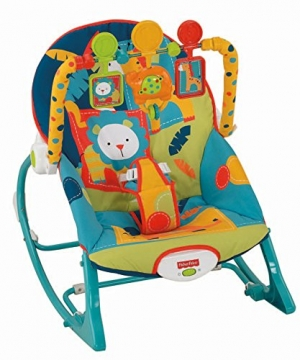 ihocon: Fisher-Price Infant-to-Toddler Rocker, Dark Safar嬰,幼兒搖椅