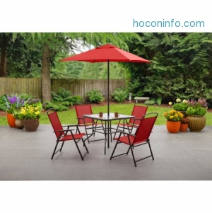 ihocon: Mainstays Albany Lane 6-Piece Folding Dining Set